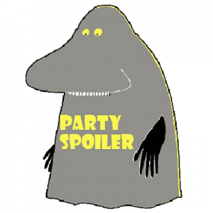 haalarimerkki - party spoiler